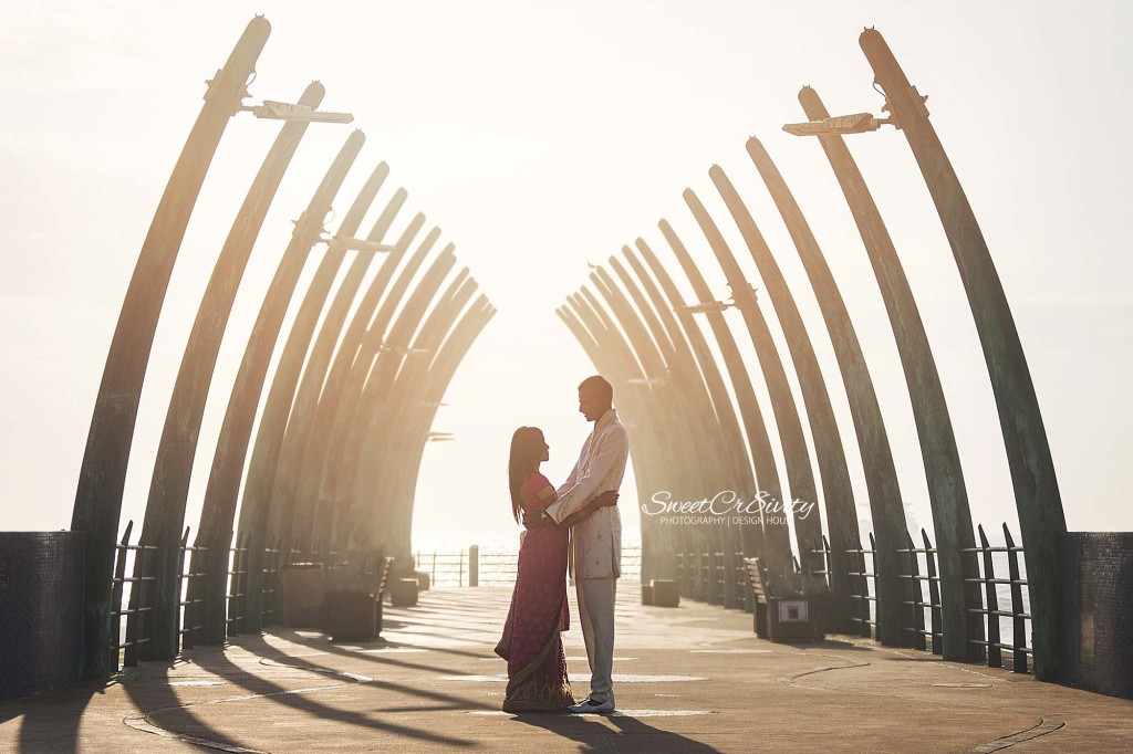 pragan and nerenee,umhlanga beach,pier,lighthouse,durban photographers,proposal shoot,pink lehenga,wedding photography,SweetCr8ivity,elaine and aveen lutchman,early morning shoot,romance,sunshine,love,kisses,creative