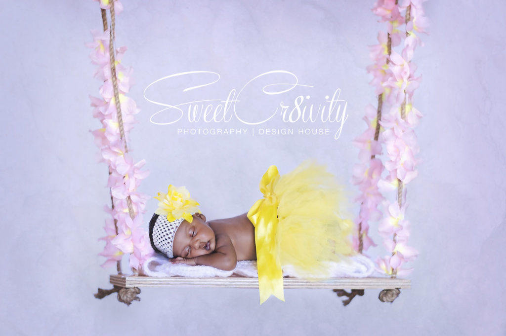 newborn photography durban,2weeks old baby girl,tutus and bows,diy newborn swing,creative ,Sweetcr8ivity,elaine and aveen lutchman,makeshift home studio,baby in a basket top view