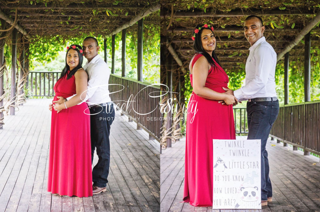 yvettes maternity shoot,smudge,its a girl,durban botanical gardens,surprise,pink confetti,princess crown,creative photoshoot,bowtie,denver,elaine and aveen lutchman,SweetCr8ivity, best durban photographers,kissing tummy,red maternity dress,