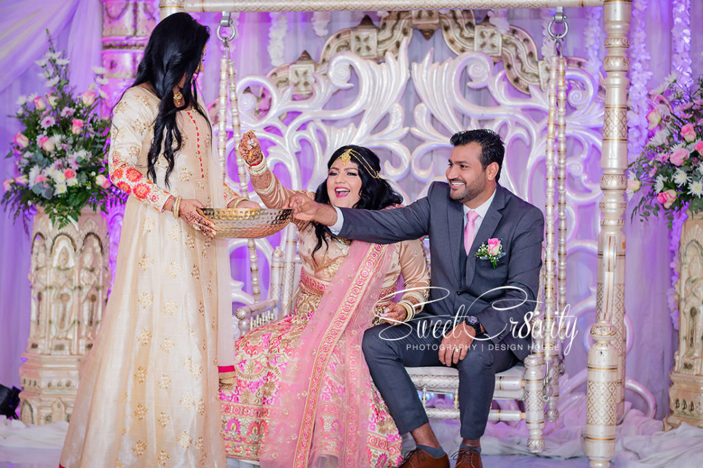 paan, coastlands musgrave, sweetcr8ivity, elaine and aveen lutchman, wedding reception, jayshree hari, decor, pink and gold lehenga, durban wedding photography