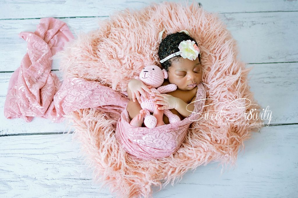 newborn photography durban, photography props,sweetcr8ivity,baby girl, pink, details, creativity, aver and Elaine lutchman, Abigail bortey,rings in feet, baby smiling, aerial view baby