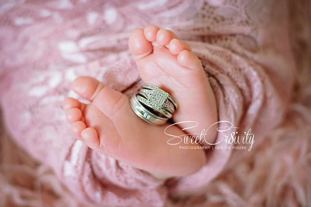 newborn photography durban, photography props,sweetcr8ivity,baby girl, pink, details, creativity, aver and Elaine lutchman, Abigail bortey,rings in feet