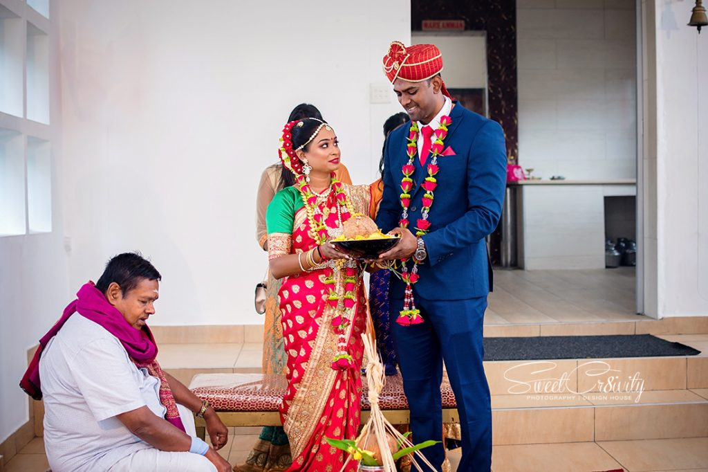 south indian wedding, best durban wedding photographers, sweetcr8ivity, elaine and aveen lutchman, umngeni road temple, intimate moments, creativity, colors, indian, happiness, love, creative shoot, red sari, dapper suit, navy blue
