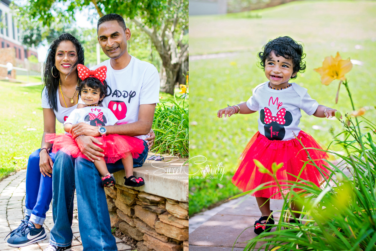 cake smash, photoshoot, 1st birthday, minnie mouse themed, chris saunders park, sweetcr8ivity, best durban photographers, family shoot, umhlanga, kids party photography, lushal and prevern