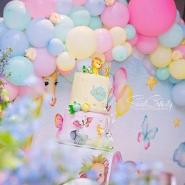 sweetcr8ivity, aveen and elaine lutchman, best durban photographers, kiddies parties durban, langford country estate, sparkle box SA, cupcake boutique, stylish seating, party planners, pastel, safari themed party
